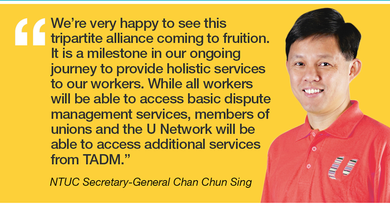 We're very happy to see this tripartite alliance coming to fruition.