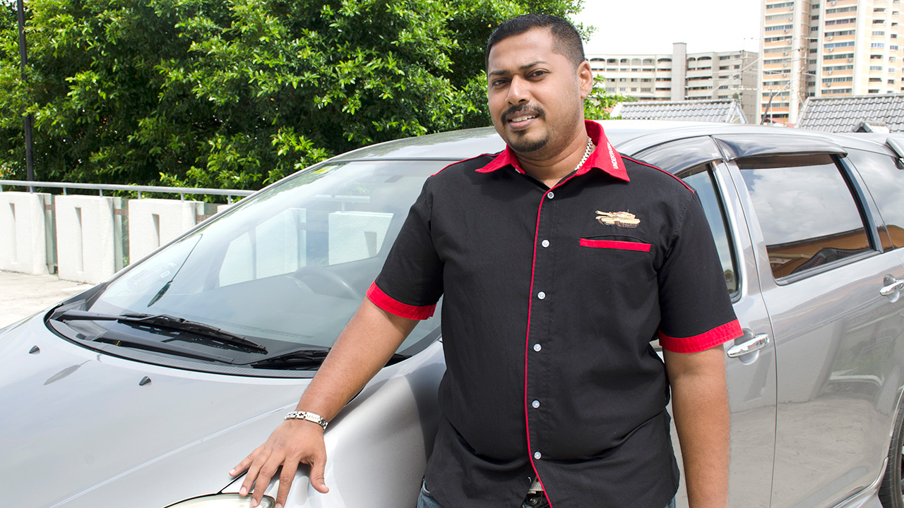Mohammed Ashiq, 35, Private Hire Driver, Grabcar (Photo Source: NTUC ThisWeek)