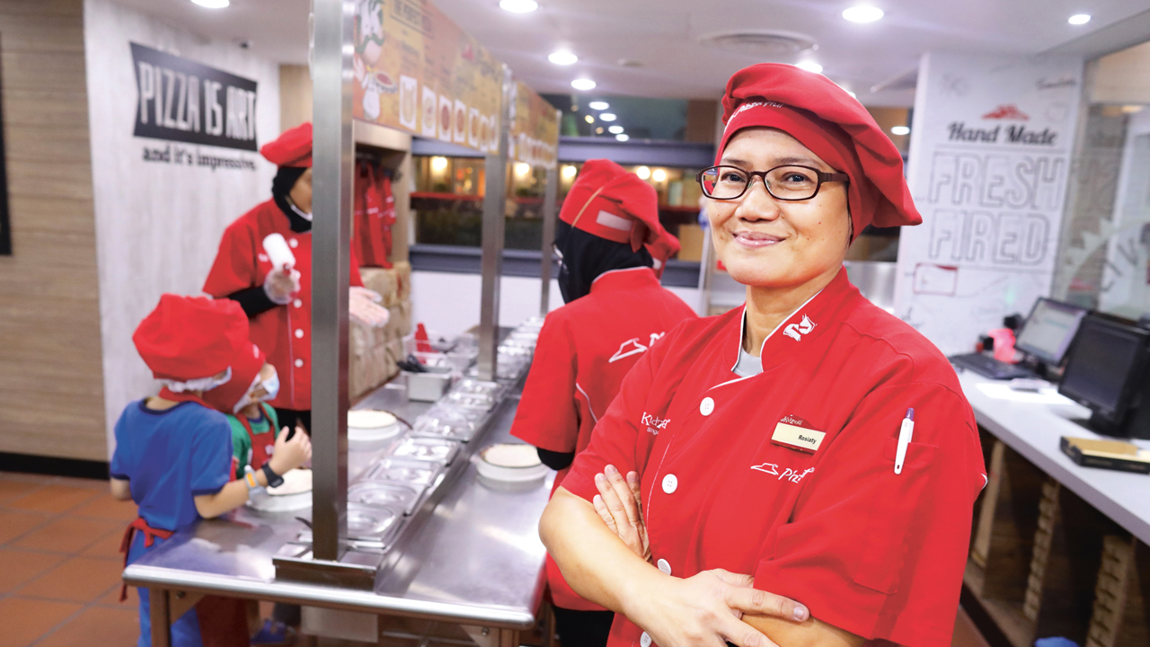 52-year-old Rosiaty Seah, a Zupervisor at Pizza Hut believes that giving kids insight into various roles and professions go a long way in providing kids with a better idea of what they want to do when they are older.