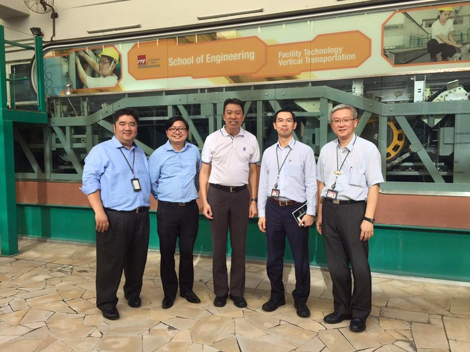 Visited ITE College East, where there is a Nitec course in Facility Technology (Vertical Transportation) to train lift professionals (Photo Source: Melvin Yong)