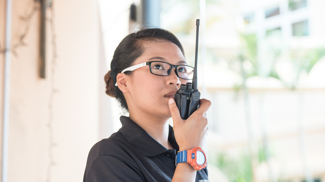 27-year-old Nor Hazimah Haron her career as a security officer fulfilling, and debunks naysayers about how security work is only for mature workers (Photo Source: NTUC ThisWeek)