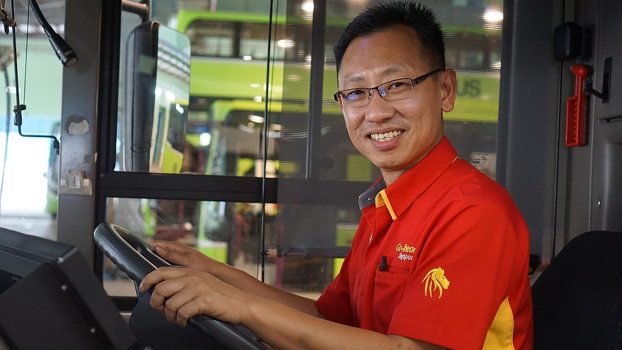 At 26, Mr Yap Hong Hwi found his calling as a bus captain - a job he relishes with pride till today, 15 years after joining the industry. Photo Source: NTUC ThisWeek