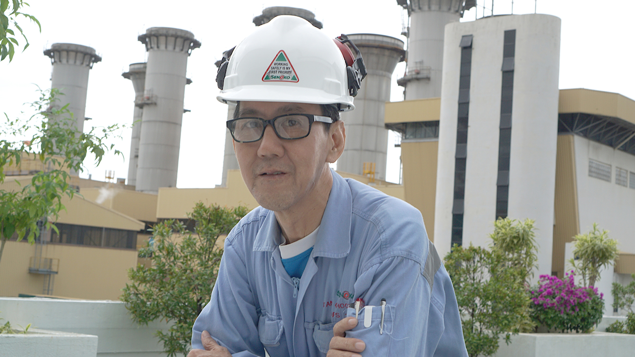 61-year-old Mr Tan Choon Seng has been working in the power and gas industry over the past 40 years and keeping up with the times through upgrading.