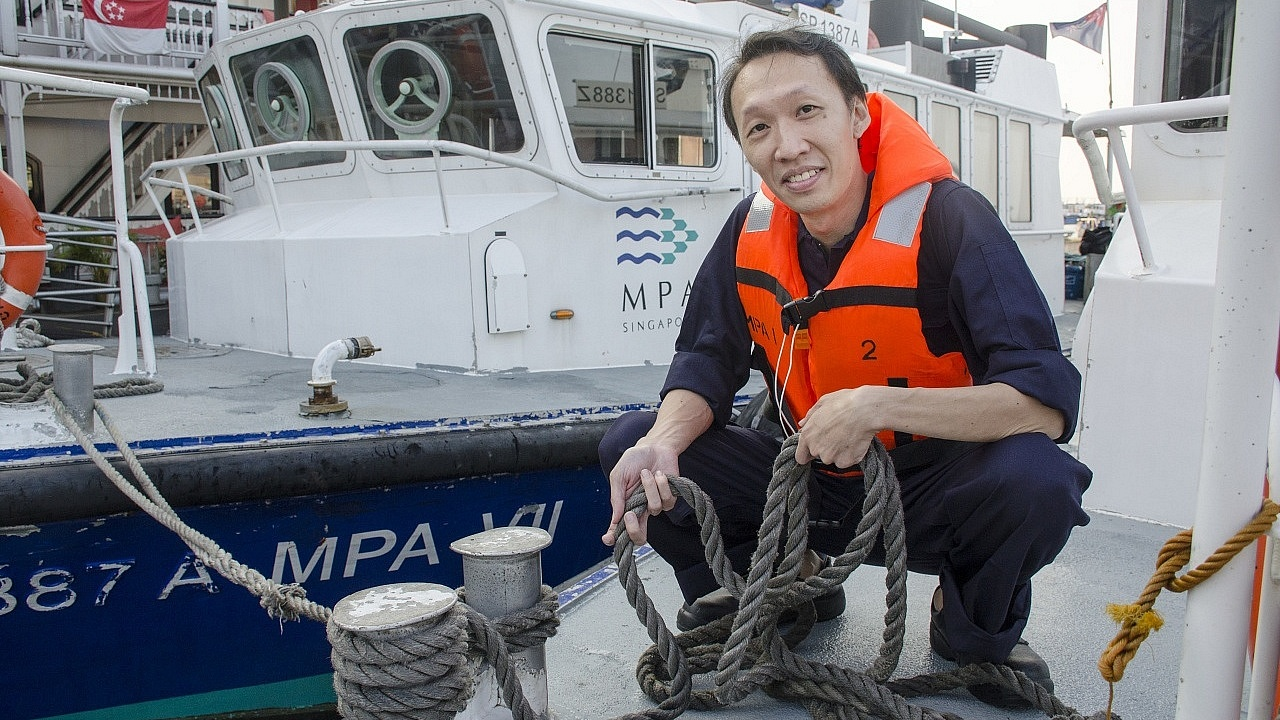 Toh De Li, 35, was involved in the search and rescue operation following the collision between an American warship and oil tanker off the coast of Singapore.