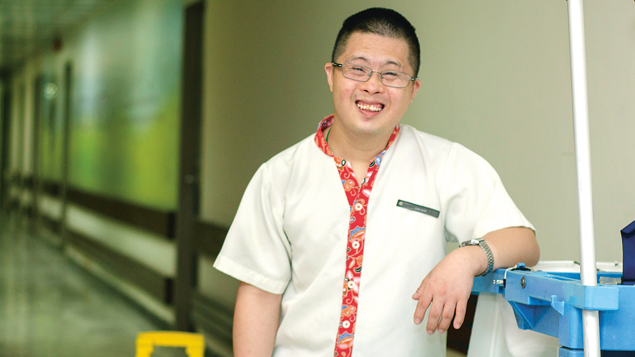 One hotel has gone beyond having a big heart to setting up structured programmes to build careers for special needs workers like Guan Chau Kok.