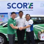 Mr Anthony Tan, Group CEO and Co-Founder of Grab, Mr Chan Chun Sing, Secretary-General of the National Trade Union Congress and Mr Seah Kian Peng, CEO of NTUC FairPrice at the launch of SCORE Subscription Programme