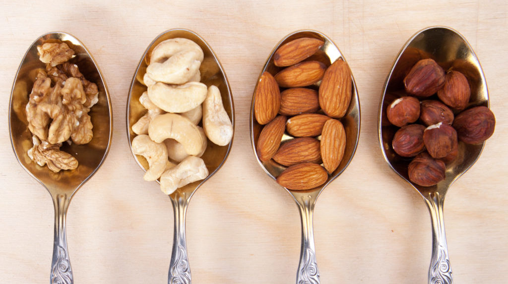 Nuts in Tablespoons