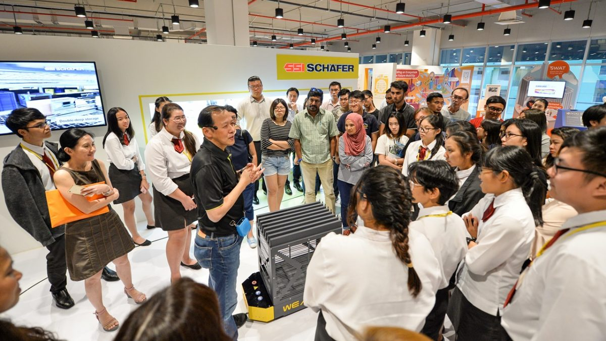 SCA President sharing logistics innovations with youth