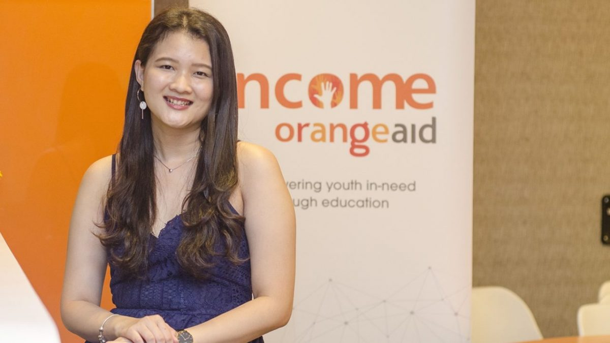 Income OraneAid beneficiary Sharon Peh