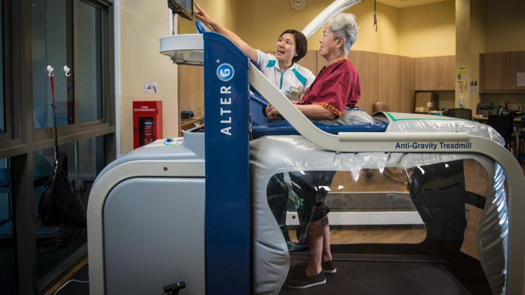machines like AlterG have been useful in helping seniors