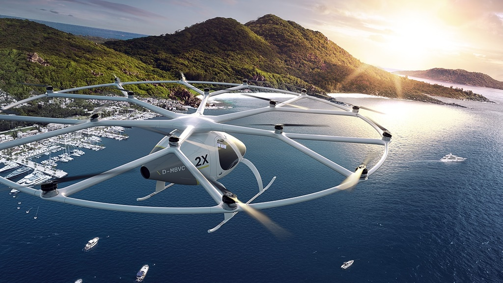 Flying taxis from Volocopter