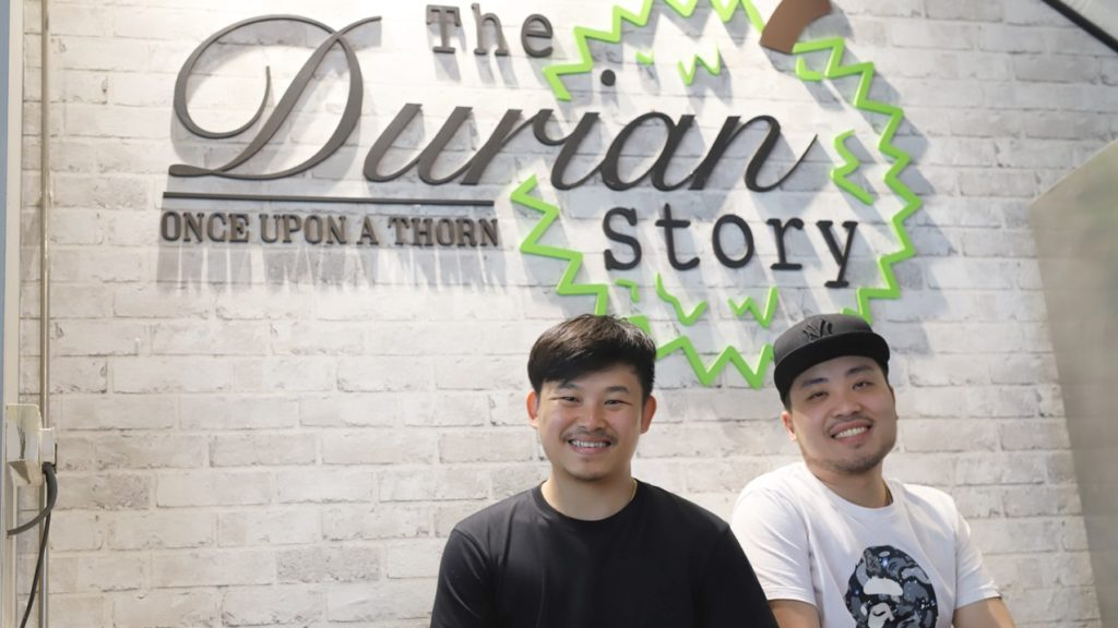 Business owners Jonathan Tee (left) and Jovias Tan (right) started The Durian Story to offer customers quality fruit at value-for-money prices.