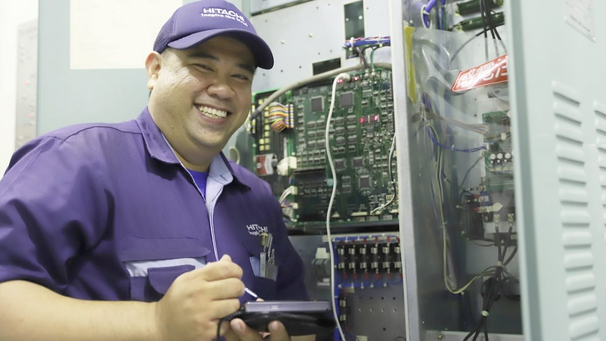 Dickson Tong is a senior lift technician with Hitachi Elevator Asia.