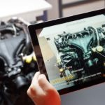 Augmented Reality programmes can be used with special headsets or even on portable devices such as tablets and mobile phones.