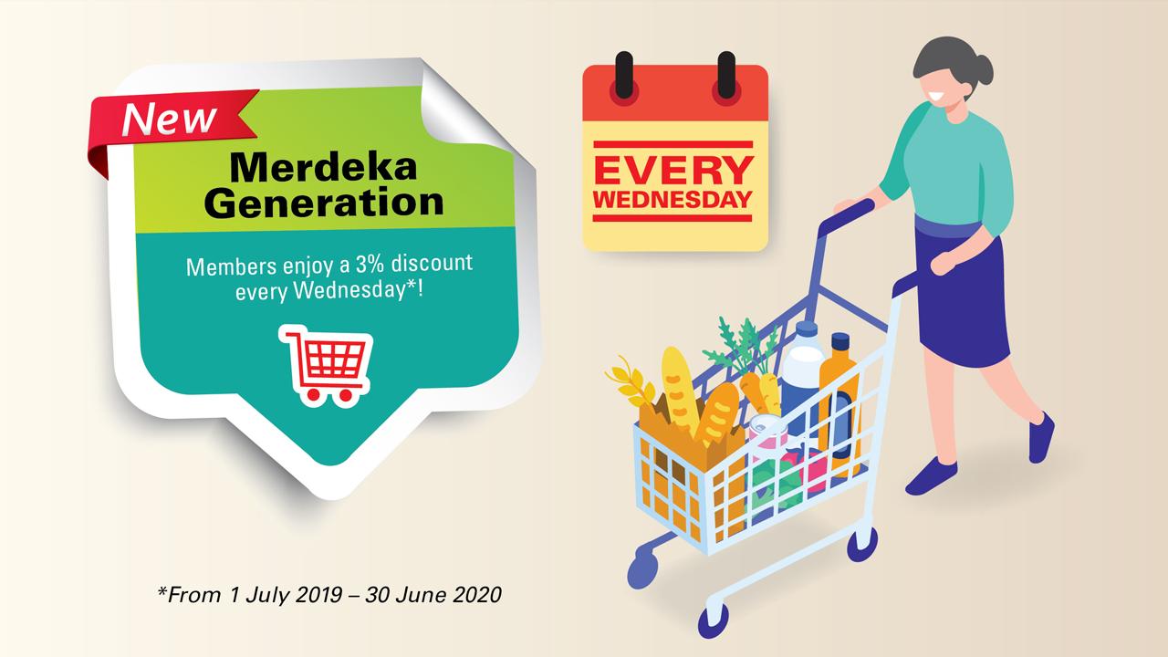 Merdeka Wednesdays: Members get to enjoy 3% discounts on Wednesdays.