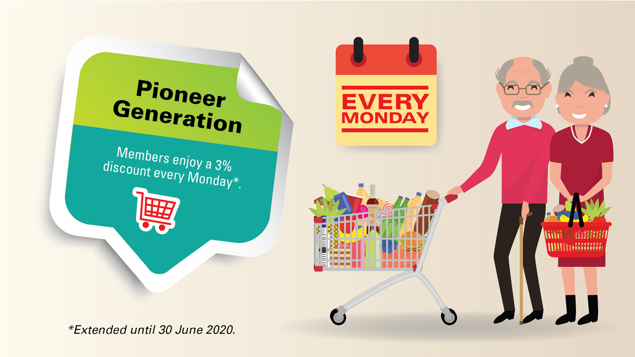 Pioneer Generation: Members can continue to enjoy a 3% discount until 30 June 2020.