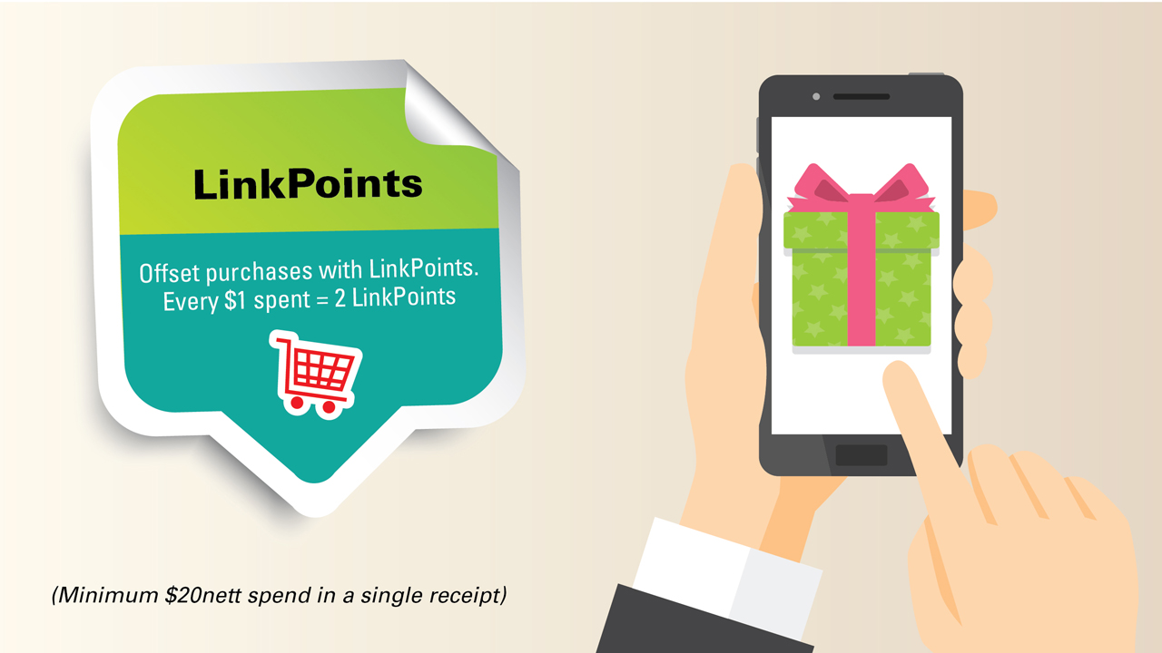 Earn LinkPoints as you shop at FairPrice.