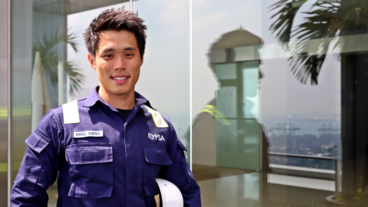 Ng Hwee Sheng has benefitted from training and upgrading.